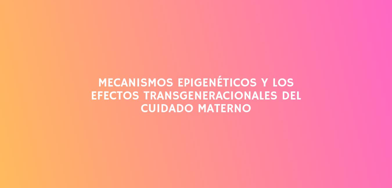 Mecanismos epigenéticos y los efectos transgeneracionales del cuidado materno